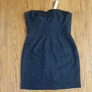 Trina Turk Strapless Denim Sheath Dress Size 12